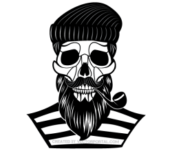 Old Sailor Skull Vector