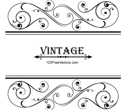 Vector Vintage Floral Ornamental Frame Design