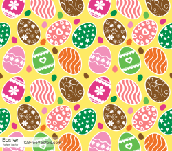 Free Easter Eggs Seamless Pattern Vector