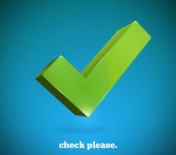 Vector 3d Check Mark