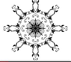 Vector Ornate Floral Decoration Design Element