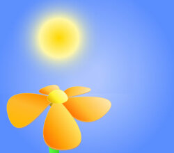 Vector Flower Under the Sun