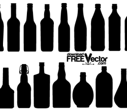 Vector Bottle Silhouettes Free