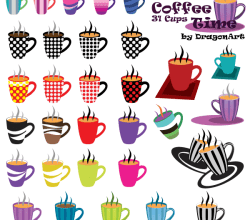 Coffee Time: 31 Cups Vector Set