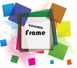 Vector Background with Colorful Frames