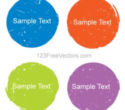 Color Grunge Circle Design Elements Vector
