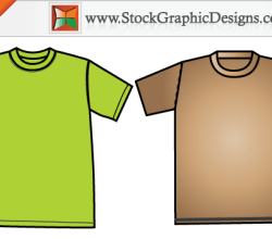 Free Apparel Men's T-shirt Template Design Vector