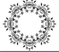 Vector Flower Ornate Frame Design
