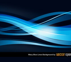 Wavy Blue Lines Background Vector