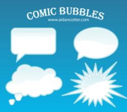 Comic Bubble Vectors Free