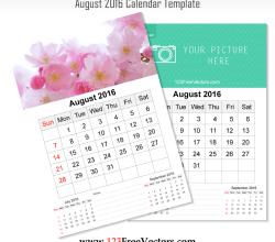 Wall Calendar August 2016