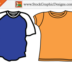 Men's Blank T-shirt Templates Free Vector Set