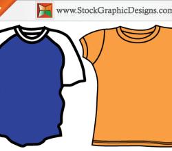 Men's Blank T-shirt Templates Free Vector Set