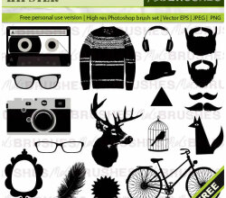 Free Hipster Vector Graphics