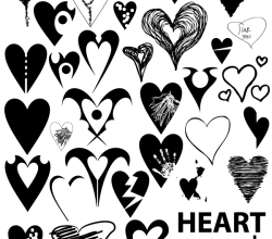 Heart Shapes Clip Art