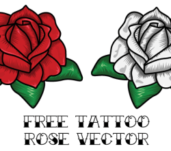 Vector Rose Tattoo Design