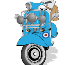 Vector Vespa Scooter Image