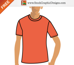Free Vector Orange T-shirt Design Template