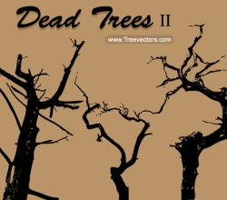 Free Dead Tree Silhouette Vector