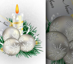 December Vector Christmas Greeting Card