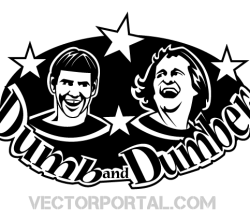 Dumb and Dumber Vector Image