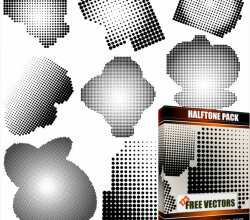Halftone Free Vector Pack