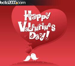 Postal To The Day Of Valentine Illustration