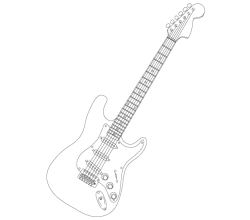 Stratocaster Electric Guitar Vector Image