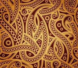 Vector Vintage Paisley Pattern Background Design