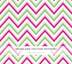 Pink and Green Chevron Pattern Vector