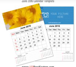 Wall Calendar June 2016