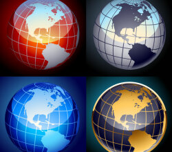 Earth Globe Free Vector Set