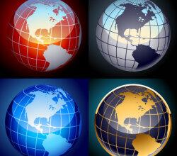 Earth Globe Free Vector Set