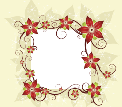 Vector Silk Flower Design Card