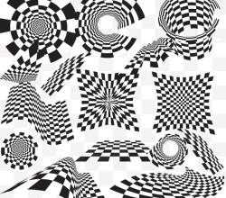 Checkered Vector Design Elements Illustrator Vector Pack