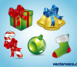 Vector Christmas Elements Free