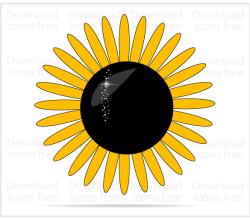 Yellow Sunflower Vector Art