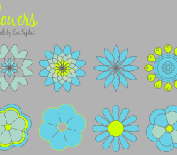 Download Simple Vector Flowers