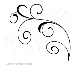 Vector Simple Floral Ornament Background