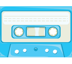 Cassette Tape Vector Art
