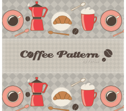 Morning Coffee Pattern – Free Resources for Photoshop and Illustrator