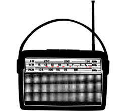 Vector Art Retro Radio