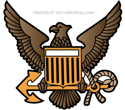 Eagle Crest Emblem Vector Art