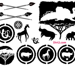 Free Vector Pack: African Animals Silhouettes