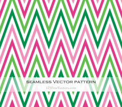 Pink and Green Zig Zag Seamless Pattern