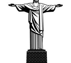 Jesus Christ Statue Vector