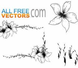 Free Floral Clip Art Vector