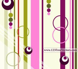 Colorful Retro Background Vector
