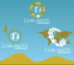 Live Earth Logo Design Vector