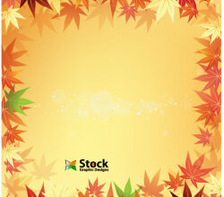 Autumn Leaf Background Vector Free